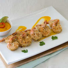 Gluten Free Coconut Shrimp with Spicy Mango Sauce