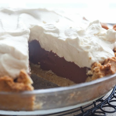 Chocolate Pudding Pie (Grain-Free, Paleo)