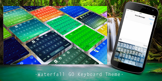 Waterfall GO Keyboard Theme - screenshot