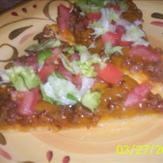 Taco Pizza With Cornbread Crust