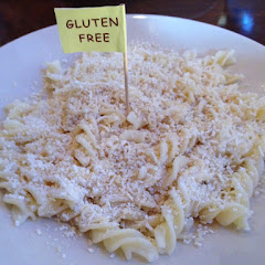 Mizithra cheese and browned butter on GF pasta.