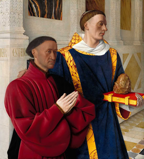 Fouquet Jean, Etienne Chevalier con Santo SDtefano