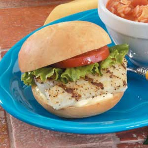 Grilled Fish Sandwiches