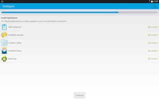 Screenshot of AirWatch Agent