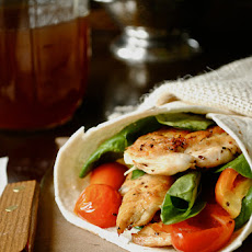 Chicken, Spinach, and Tomato Wrap