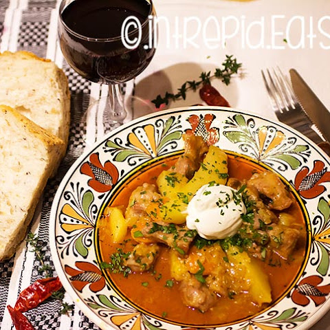 Veal and potato stew. A traditional Romanian recipe.