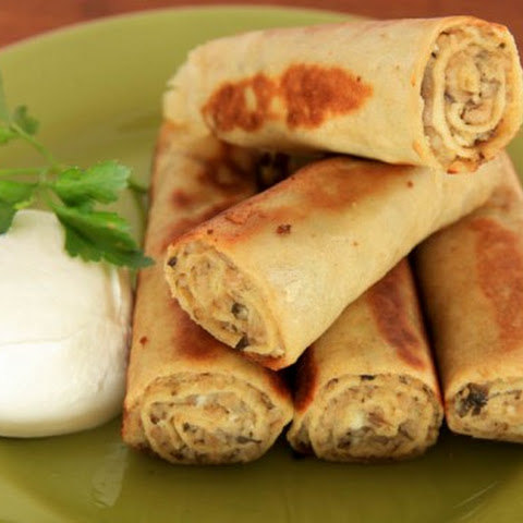Savory Crepes (Meat and Mushroom Nalesniki)