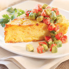 Onion Polenta with Spiced Tomato Avocado Salad