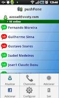 Screenshot of pushFone - push to talk