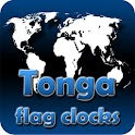 Tonga flag clocks icon