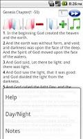 Screenshot of King James Bible