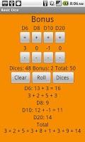 Screenshot of Basic Dice