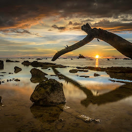 the abandoned timber by Apa Ja - Landscapes Waterscapes ( timber, sunset, winn, erwin, labuan )