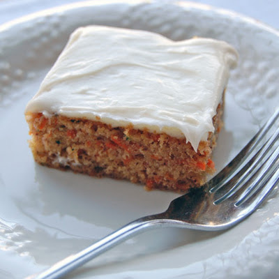 Zucchini Carrot Cake with Cream Cheese Frosting