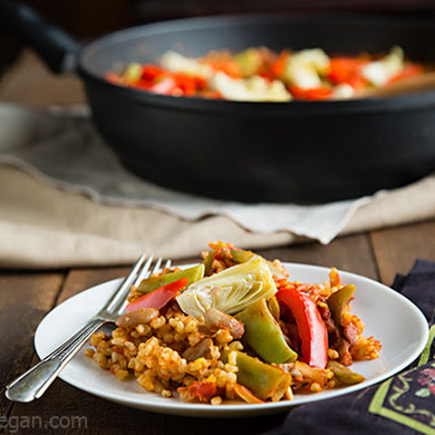Brown Rice Vegetable Paella