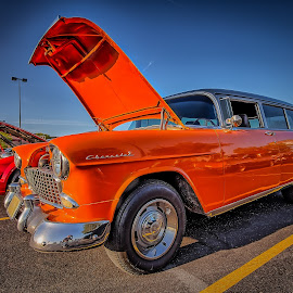 Orange Chevy Wagon by Ron Meyers - Transportation Automobiles