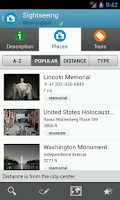 Screenshot of Washington D.C. Travel Guide