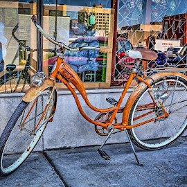 Gone Shopping by Ron Meyers - Transportation Bicycles