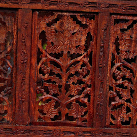 Carved wood panel by Prasanta Das - Artistic Objects Furniture ( panel, carved, wood )