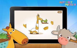 Screenshot of Kids ABC Alphabet Puzzles Lite