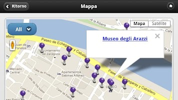 Screenshot of Zaragoza Audioguida, Spagna