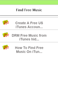How to find free music - screenshot