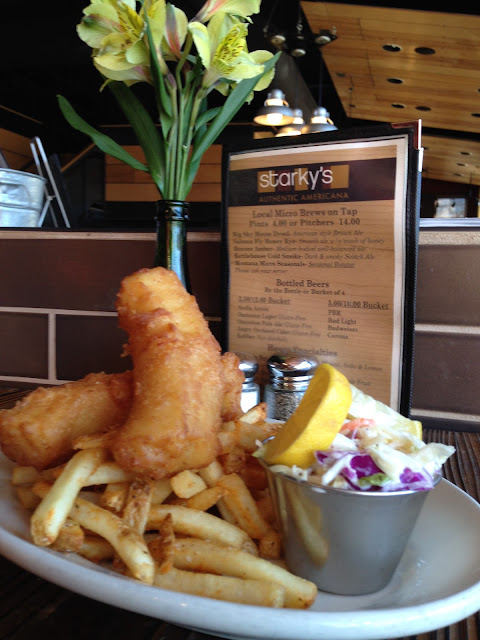 Gluten Free Batter made with Rice Flour makes the Fish & Chips very Crispy & really tasty!  #glutenf