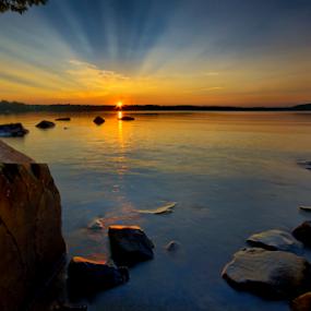 Third Lake Sunset by Shaun White - Landscapes Sunsets & Sunrises