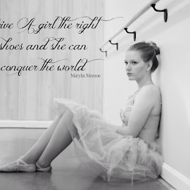 Graceful Beauty by Melanie Ayers Wells-Photography - Typography Quotes & Sentences ( girl, melaniewellsphotography.com, ballet, young lady, dancer )