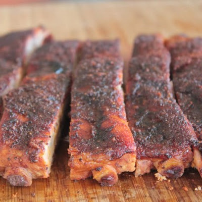 Onion and Cola Smoked Spare Ribs