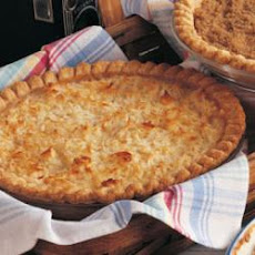 Golden Coconut Peach Pie