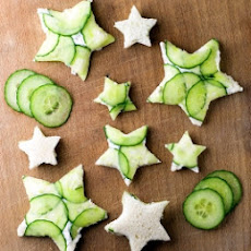 Cucumber Goat Cheese Sandwiches