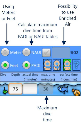 Easy Dive Tables