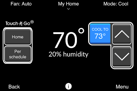 Carrier® Côr™ Thermostat - screenshot