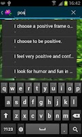 Screenshot of Positive Affirmations