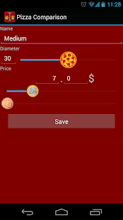 Pizza Comparison - screenshot