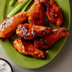 Baked Buffalo Wings With Blue Cheese-Yogurt Dip