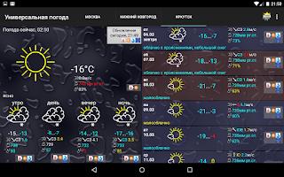 Screenshot of Универсальная погода