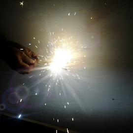 Sparkling... by Arjun Sabesh - Abstract Fire & Fireworks ( diwali, joy, fireworks, light, sparklers )