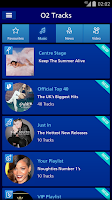 Screenshot of O2 Tracks - Music & Video
