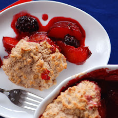 Plum-Blackberry Cobbler