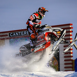 Snow Dust by Kenton Knutson - Sports & Fitness Motorsports ( snocross, jumping, snowmobile, racing, snow, mystik )
