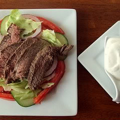 Beef Salad with Sour Cream Dressing