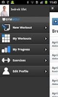 Screenshot of Gymwolf Workout Tracker