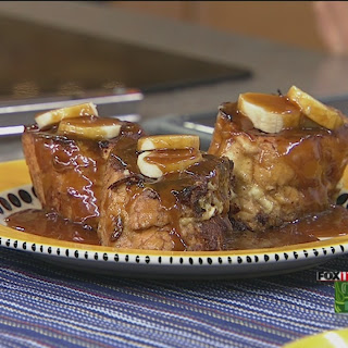 Bananas Foster Stuffed French Toast