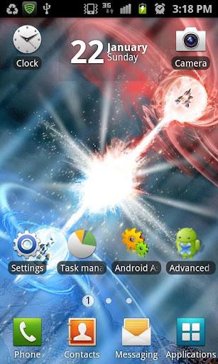 Energy Blast Live Wallpaper