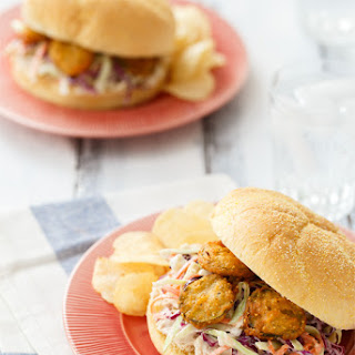 Summer Slaw Sandwiches with Fried Pickles