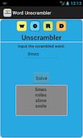 Screenshot of Word Unscrambler