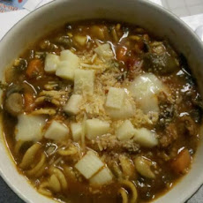 Tomato, Italian Sausage, and Veggie Soup