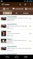 Screenshot of Pintley Beer Recommendations